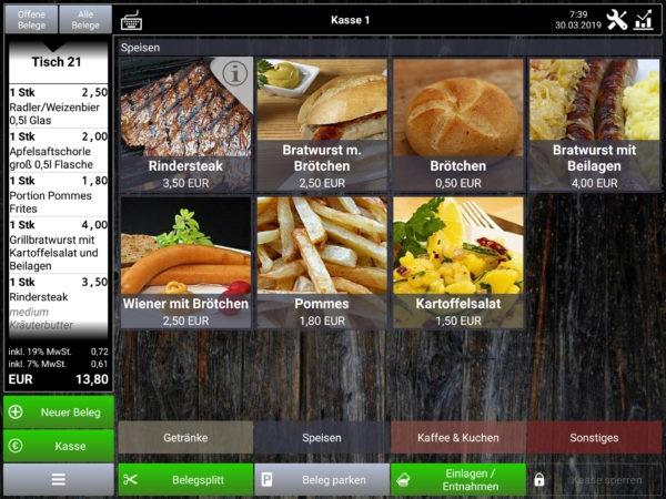 Kasse Speedy PRO Kassensystem Gastronomie Landscape