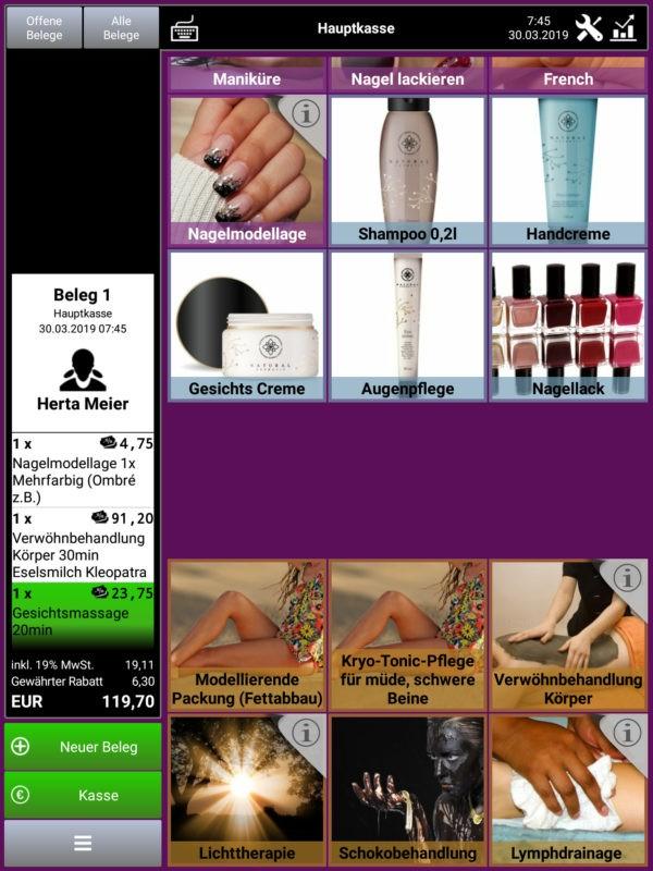 Kasse Speedy PRO Kassensystem Friseur Kosmetik Portraitansicht
