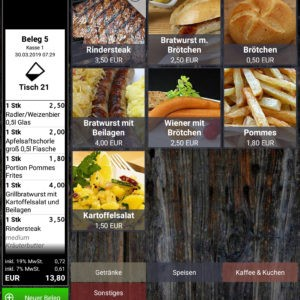 Kasse Speedy PRO Kassensystem Gastronomie Portraitansicht