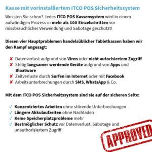 Vorteile des ITCO POS Kassensystem Sicherheitssystem